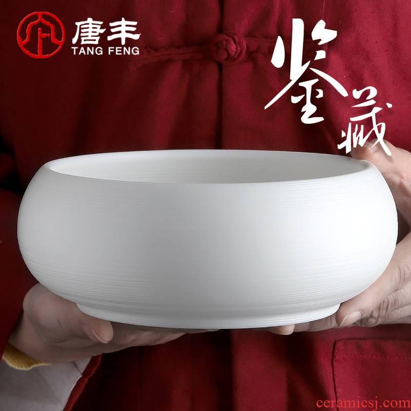 Tang Feng suet jade tea wash to large capacity manual water jar ceramic large wash bowl cups the receive tea POTS, 19009 z
