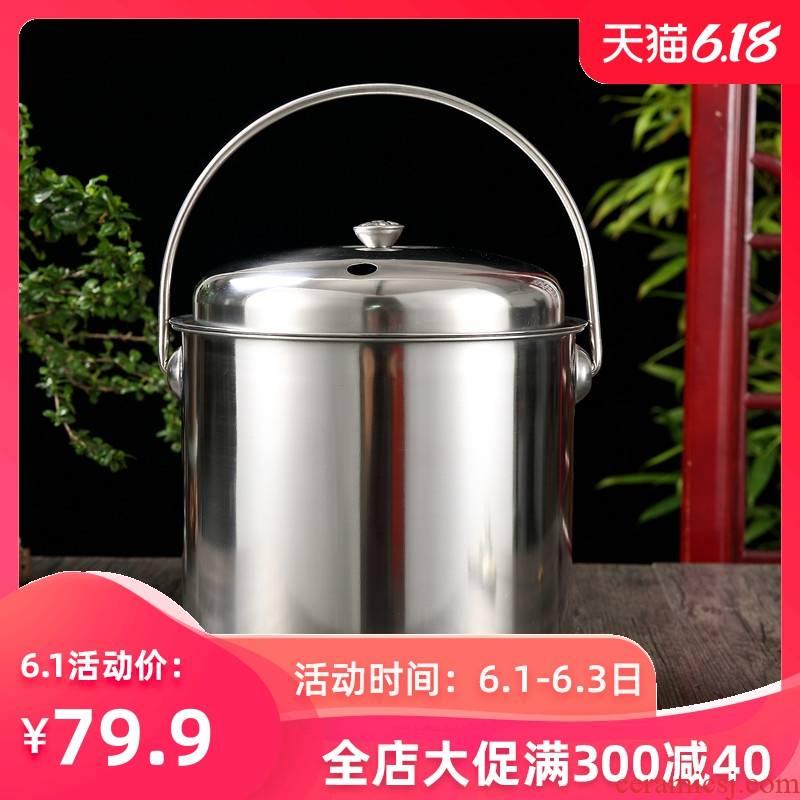 Stainless steel detong household kung fu tea waste water drainage water from waste tea tea tea - leaf bucket bucket trumpet