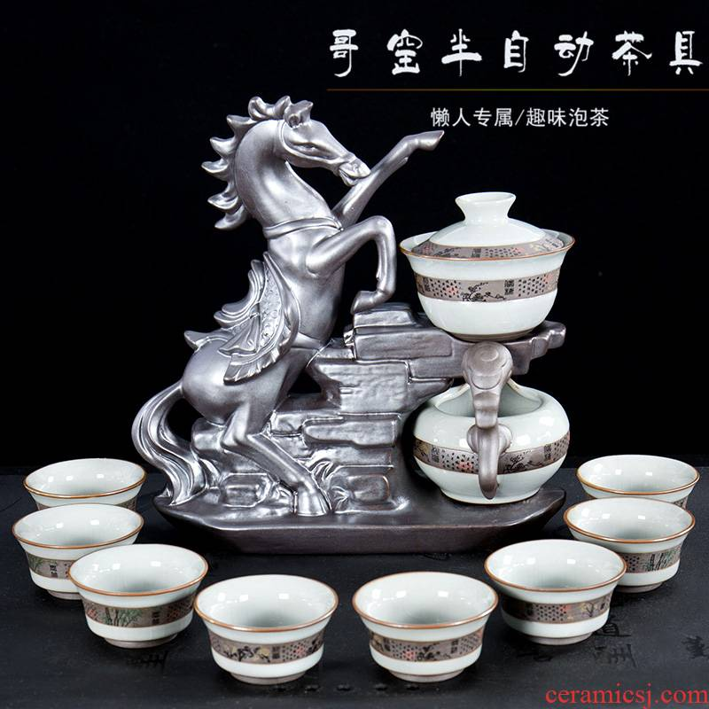 Ronkin elder brother up kung fu tea set of a complete set of automatic teapot teacup household lazy people ultimately responds tea tea set
