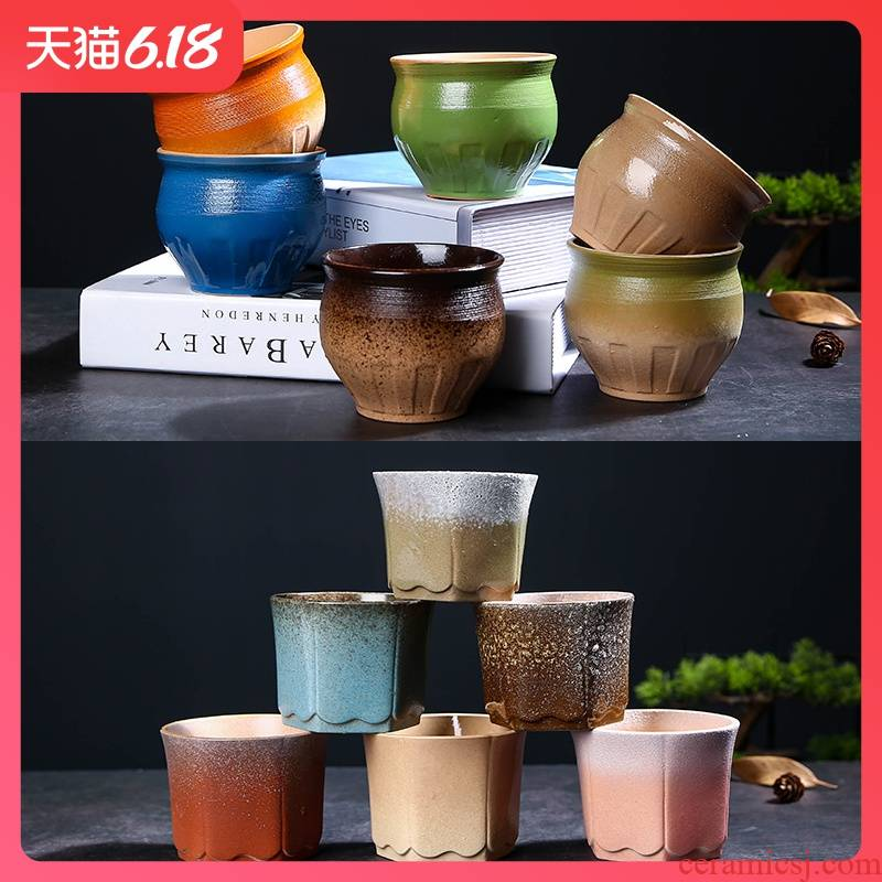 Ceramic flowerpot more meat small new hot style an artifact meat meat bowl character coarse pottery breathable specials with 10 yuan package mail