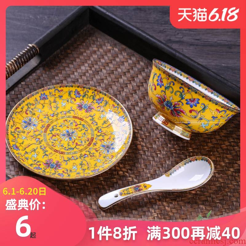 Dishes suit household ceramics tableware product creative Chinese Dishes ipads plate combination of a single ipads porcelain high job