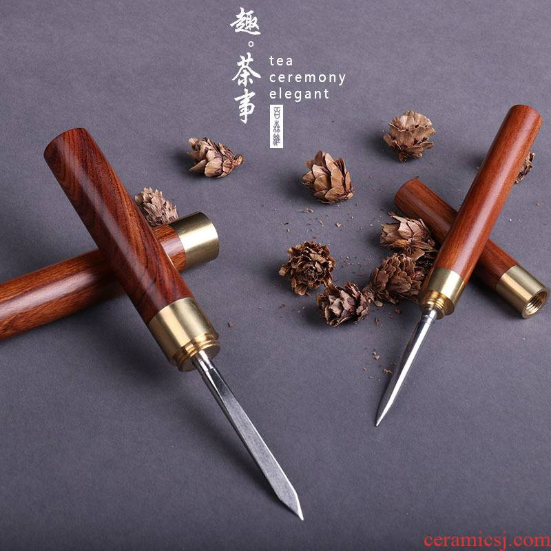 Babson d puer tea knife ChaZhen special manual cone knife to pry open tea tea tea cake tools accessories