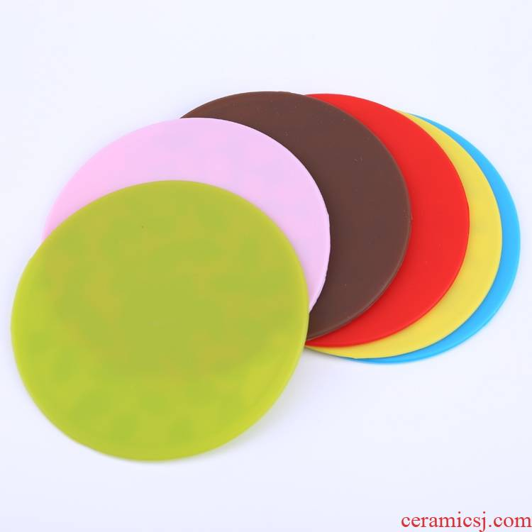 BG6 tablets food - grade silicone cup mat move slippery little insulation pad Japanese small butterfly small bowl meal pad