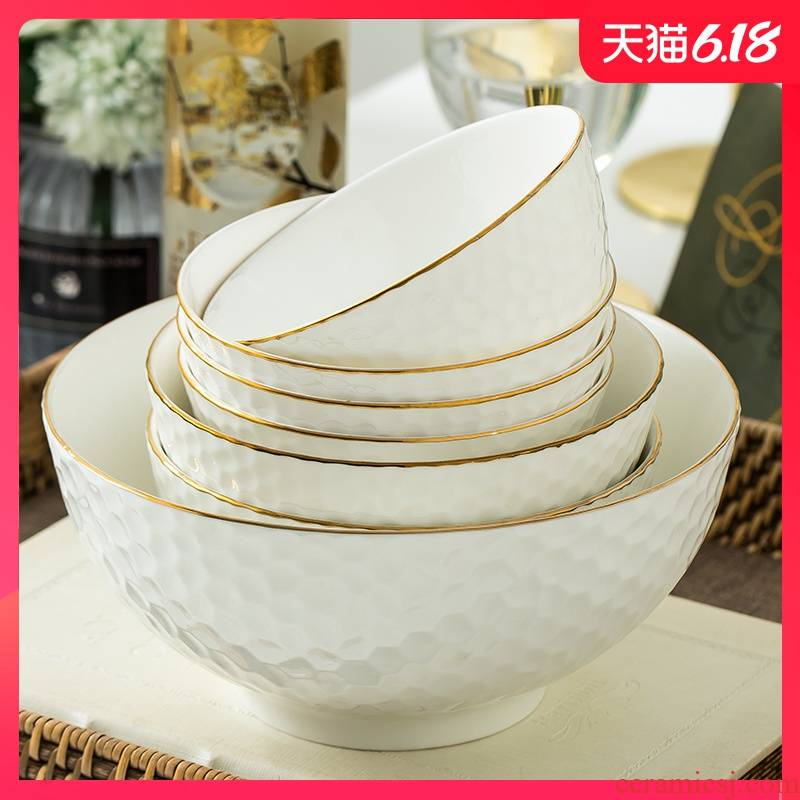 Garland individual dishes are optional DIY home fruit salad bowl of soup rice rainbow such use creative ceramic plate