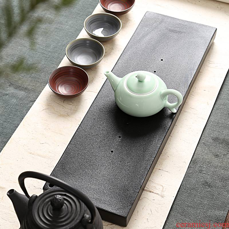 Into this creative natural stone monkey sharply consolidation stone tea sets a seam black stone tea dry terms drainage