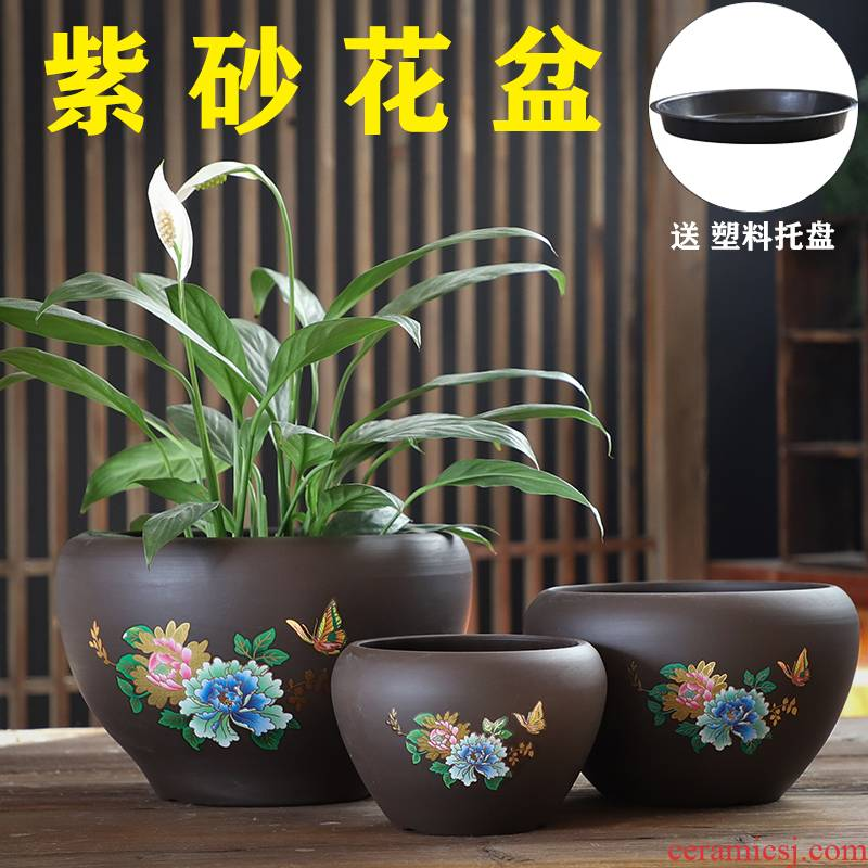 The Fleshy flower pot large old running the special offer a clearance creative money plant of large diameter coarse pottery breathable ceramic flesh POTS of the plants