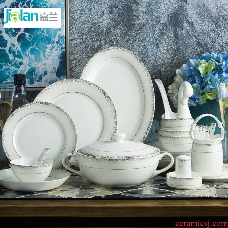 Garland 56 Nordic contracted ipads porcelain tableware suit key-2 luxury white up phnom penh household ceramics tableware dishes suit