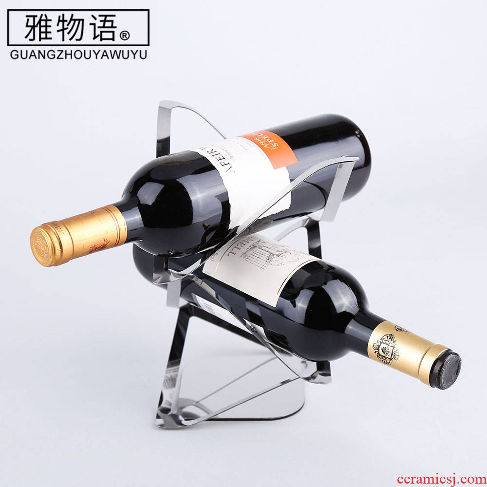 "The Cut red wine rack furnishing articles ""and"" two pens creative display bottle home European wine rack"