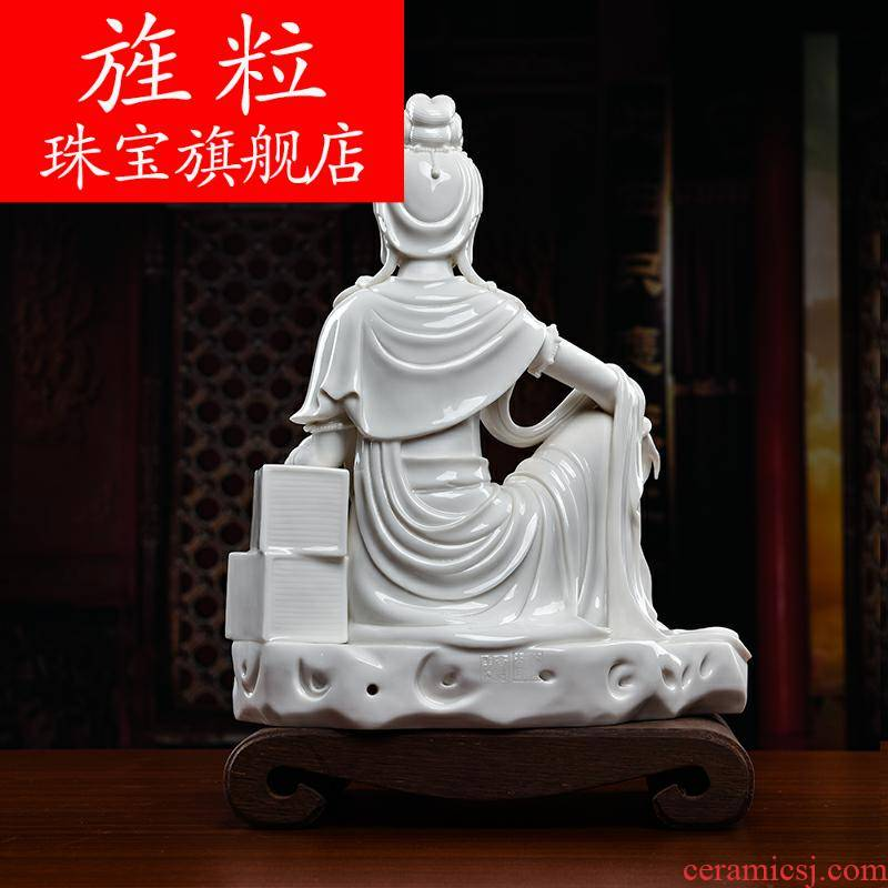 Bm Su Du village work ceramic Buddha process decorations furnishing articles by rock comfortable guanyin D27-105