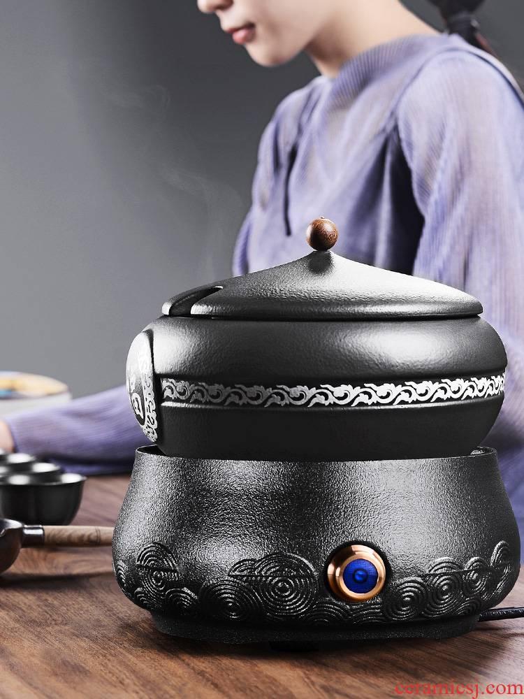 It still fang boiling tea ware ceramic company - thermal TaoLu tea stove black pottery tea suit household black tea warm the teapot