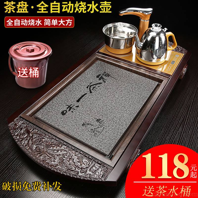 Package mail stone material the whole piece of stone tea tray was sharply kunfu tea tea tea set household contracted the the original large restoring ancient ways