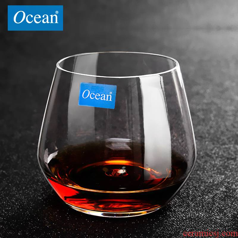 Thailand import OCEAN glass thin cold cut glass cup glass the glass heat - resistant glass of whisky