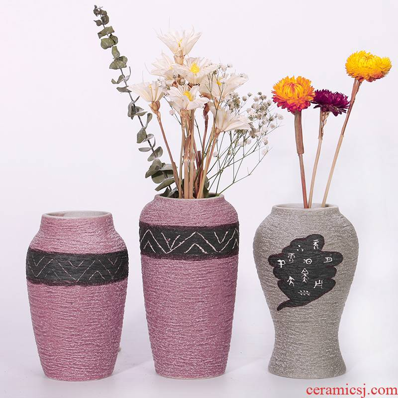 Ceramic POTS restoring ancient ways coarse pottery dried flower water raise the size vases, flower arrangement sitting room place a flower pot special offer a clearance rule