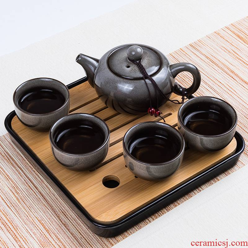 Travel tea sets portable crack cup home a kung fu tea pot 2 two ceramic outdoors Travel packages