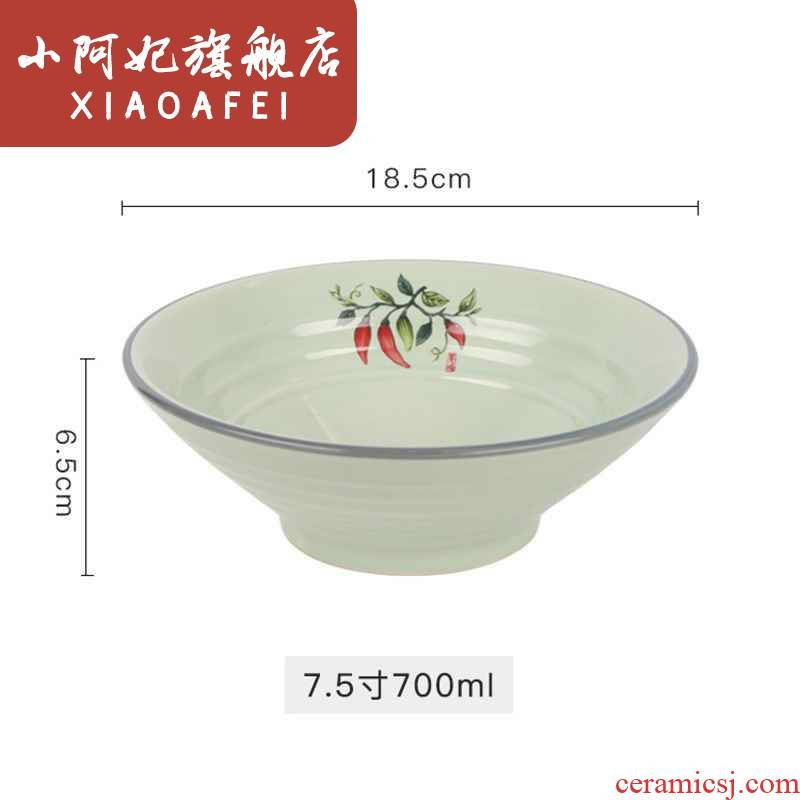 Earthenware, rainbow such use 4 only 7.5 inch ceramic hat to bowl of hot and sour powder household mercifully rainbow such as bowl restaurant hot soup bowl