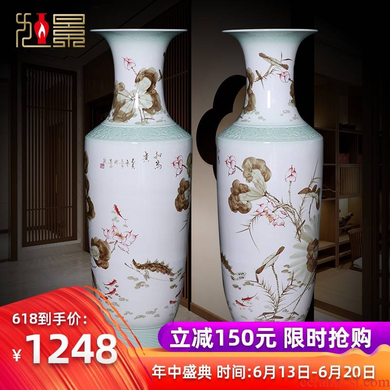 Hand - made harmony is the jingdezhen ceramics of large vase household decorative furnishing articles for the opening of the new Chinese style gifts sitting room