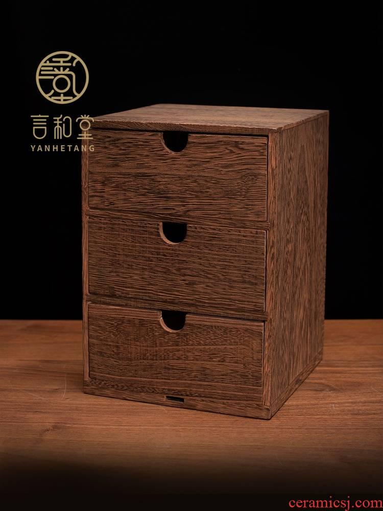 Pu 'er tea cake box box packing box solid wood, multi - layer receive a box of white tea tea ano high drawer tea boxes