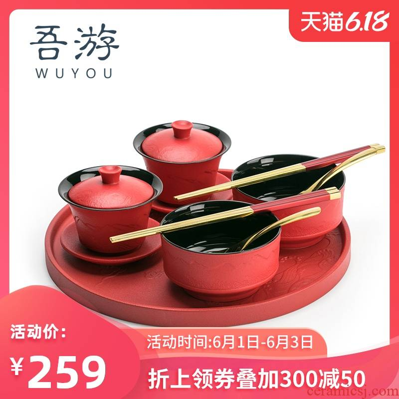 I swam to ceramic cups xi xi cups like chopsticks suit wedding gift to bowl chopsticks wedding supplies of gift box