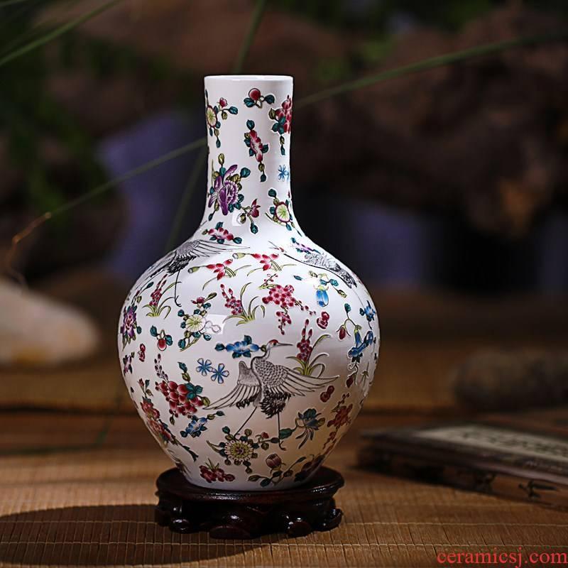 Jingdezhen ceramics vase decoration luminous porcelain crafts home outfit set modern fashion design