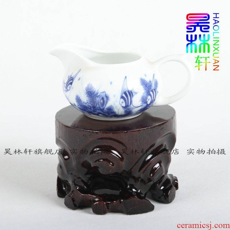 HaoLinXuan tea base wooden carved floret bottle seat decorative furnishing articles base