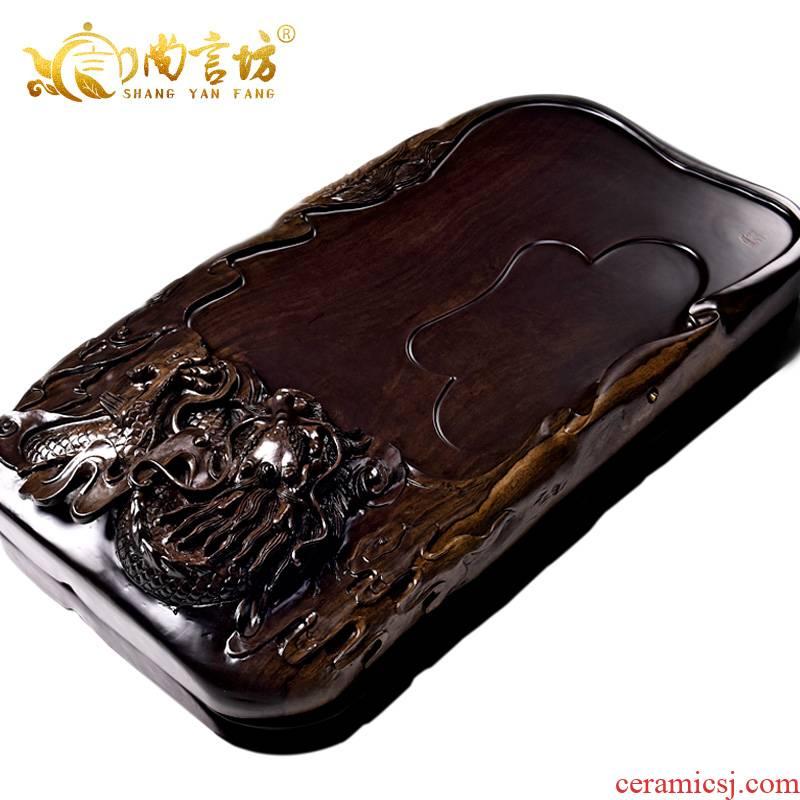 It still fang solid wood tea consolidation piece of ebony log 1 m flat tea saucer tea tea, tea table head
