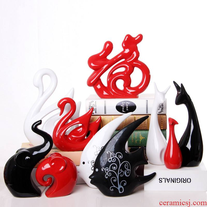 Contracted and I household adornment creative wine sitting room TV ark place small ceramic handicraft decoration move