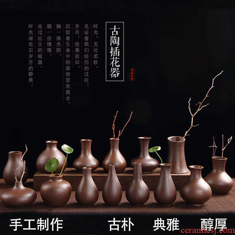 Flower implement manual creative vintage flowers inserted move fashion floret bottle hydroponic tea furnishing articles ceramic household act the role ofing is tasted