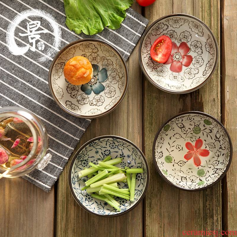 Jingdezhen Japanese ceramic dishes and wind round flavour sauce dish dish dish of soy sauce dish of vinegar sauce dish of mustard