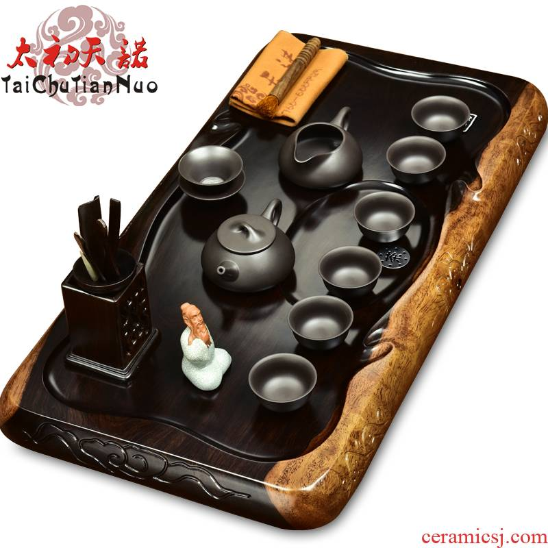 The beginning day, ebony tea tray are it to kung fu tea set suit annatto tea sets tea tea tea taking