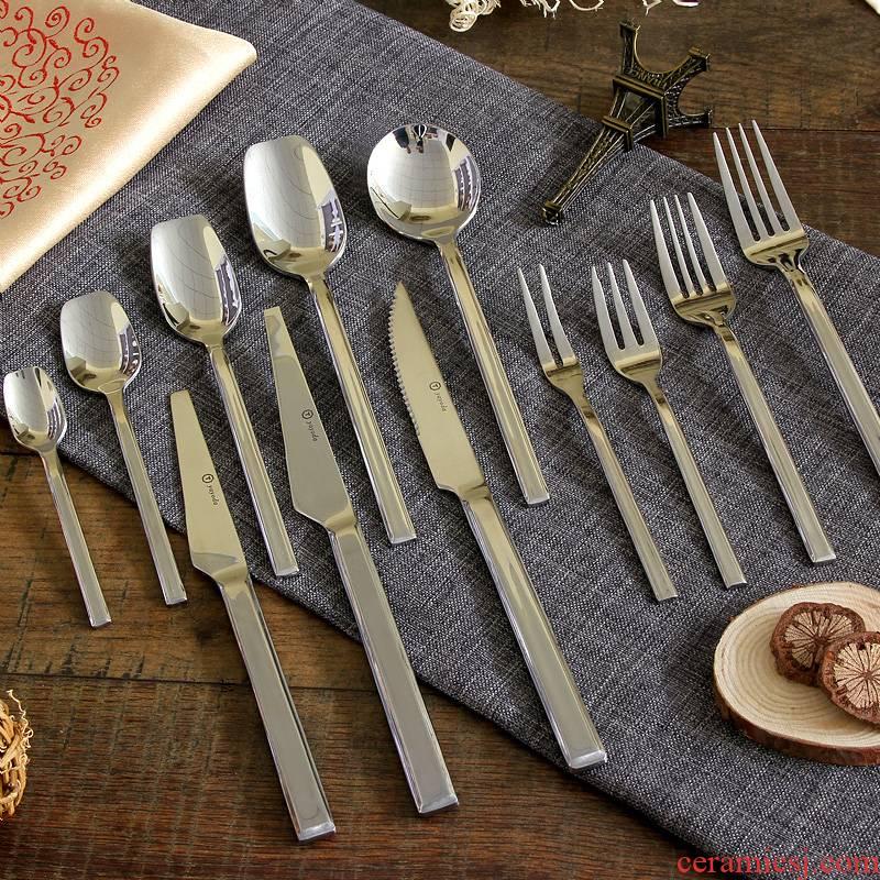 German knight steak knife main dessert fork knife spoon coffee spoon teaspoon western knives set meal