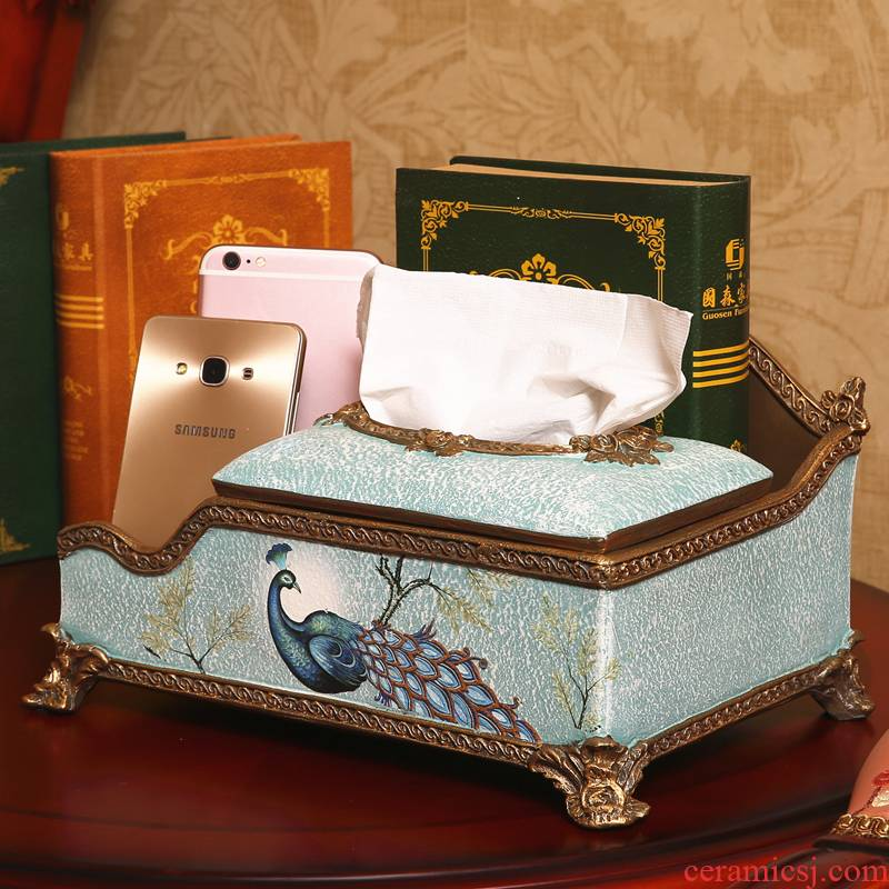 Europe type multifunctional tissue box creative household smoke box American sitting room tea table boxes decorative furnishing articles