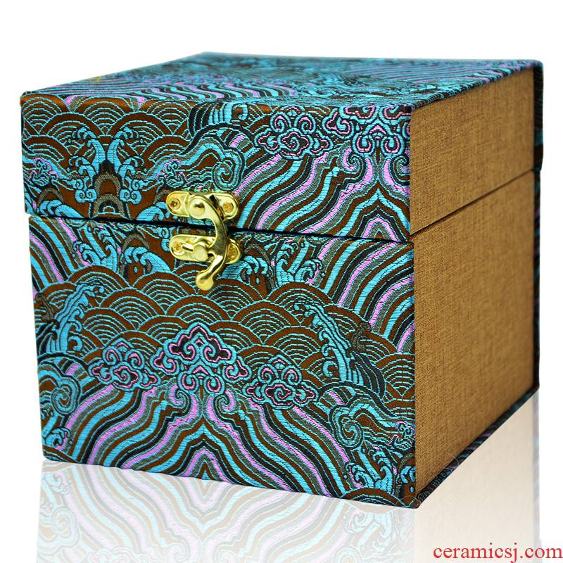 Chang 's jewelry wooden JinHe porcelain collectables - autograph antique vase penjing collection box gift box