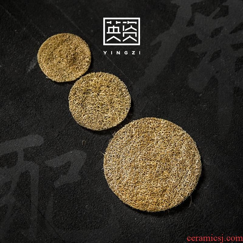 Loofah pet pot mat mat the teapot to keep tea mat Japanese cup mat creative kung fu tea tea accessories