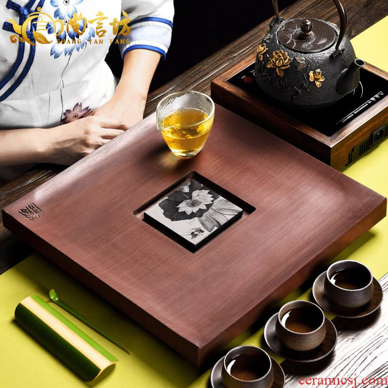 It still lane sharply stone tea tray, tea sea household kung fu tea set accessories stone tea saucer dish