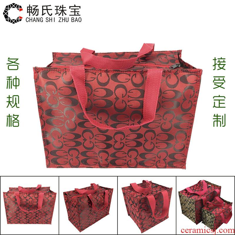 JinHe matching handbag jewelry gift bags the receive porcelain antique collection gift packing box to their bag