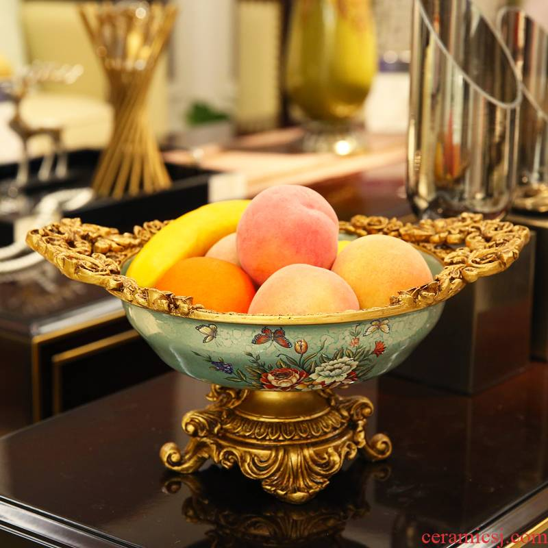 European fruit bowl modern creative snacks dry fruit bowl sitting room adornment household candy dishes furnishing articles tea table