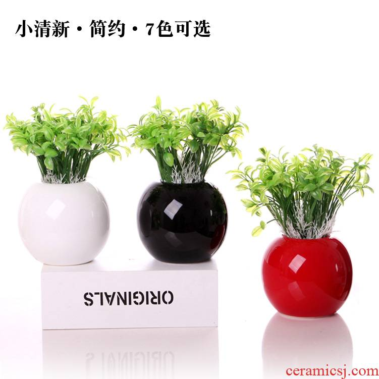 Small pure and fresh and ceramic vase furnishing articles TV ark, creative flower arranging home decoration I and contracted sitting room decoration ideas