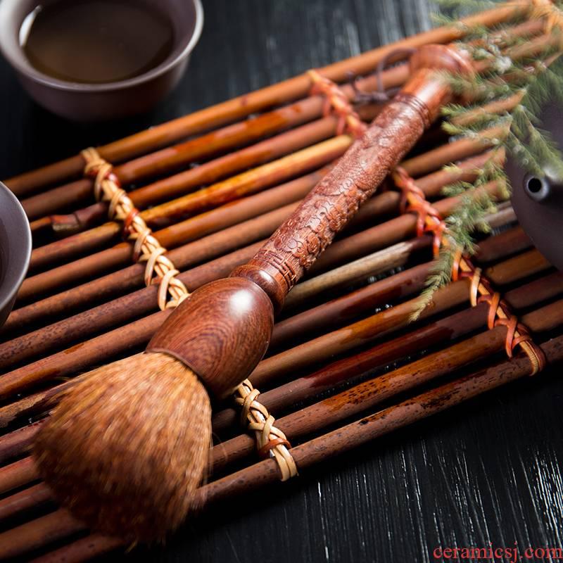 Ronkin brush YangHuBi tea set large parts with zero ebony tea tea and tea tray brush the pear flower