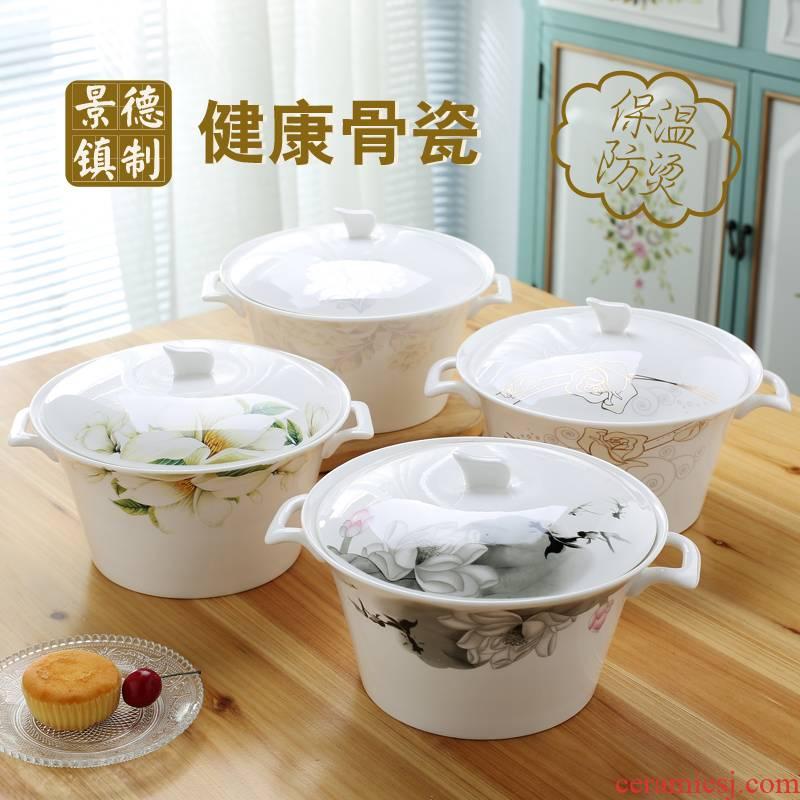 Prince Edward, jingdezhen porcelain tableware practical ipads soup pot pot hot pot heat preservation pot with cover household ceramics