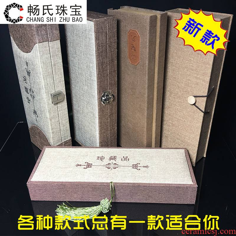 Linen wood necklace JinHe porcelain collectables - autograph the gift collection box car accessories brush, wooden boxes