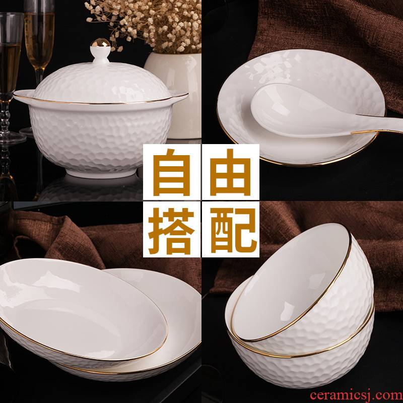 Garland European - style up phnom penh golf relief type bowls plates spoon, free collocation with rainbow such as bowl bowl spoon are optional