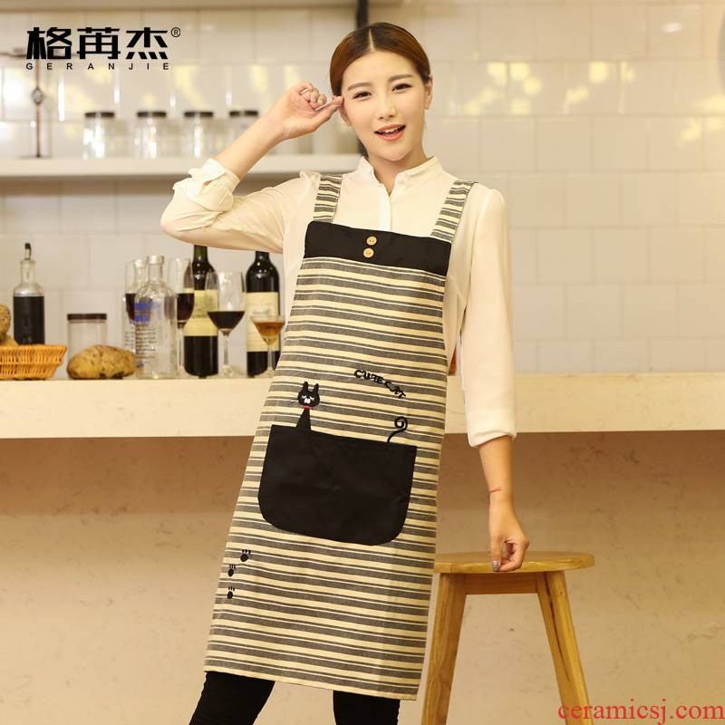 Han edition cotton milk tea shop tooling custom kindergarten nail fashion restaurant mother - to - child pavilion clerk, apron smock