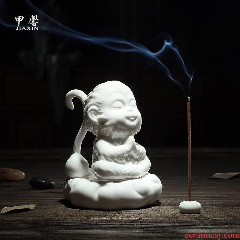 Furnishing articles JiaXin ceramic tea pet monkey monkey King spirit hand - made tea play creative wukong was spare parts for the tea taking