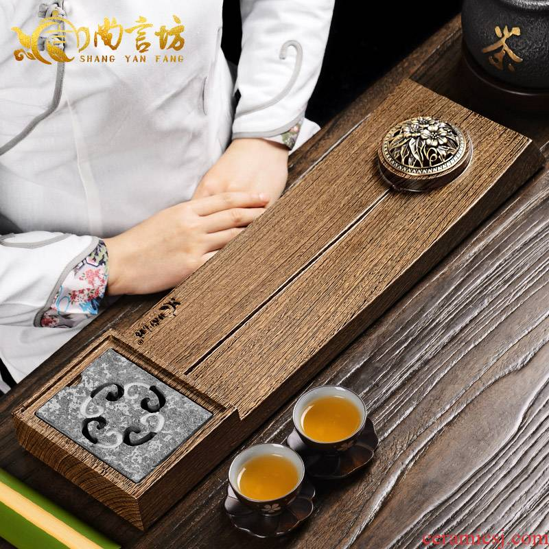 It still fang small tea tray was one tea table with the the depth of solid wood tea saucer the whole piece of chicken wings wood kung fu tea tea tray there are
