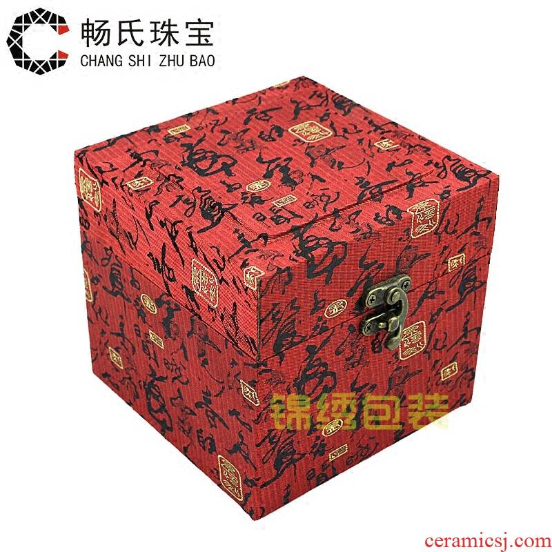 Square JinHe jewelry jewelry jewelry box porcelain cultural relic packing furnishing articles the antiques to receive a gift box