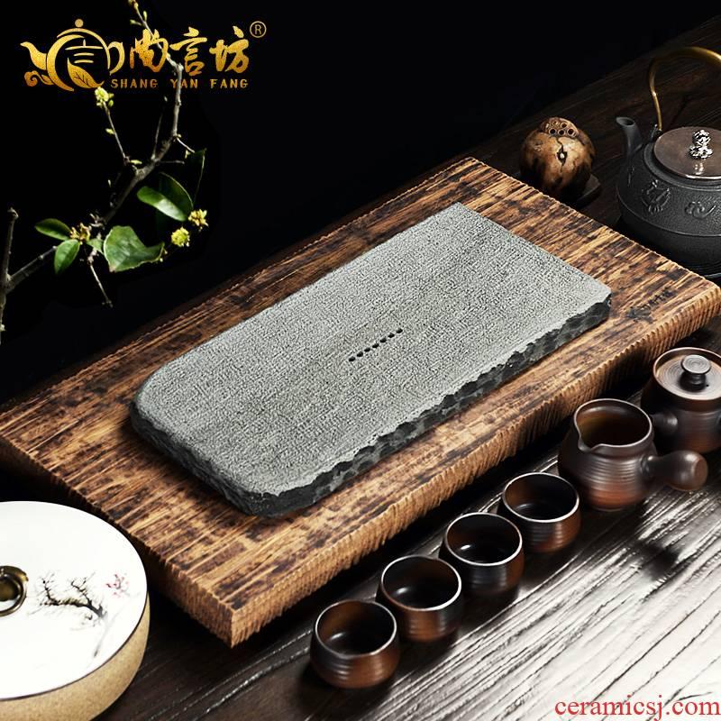 It still fang tea saucer heavy sea tea table tray bamboo kung fu tea set stone tea tray was creative rectangular pool table