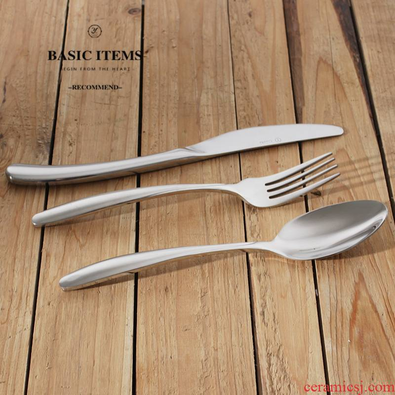 Western - style food tableware suit gifts stainless steel knife and fork spoon, three - piece beefsteak tool two - piece spoon bag in the mail