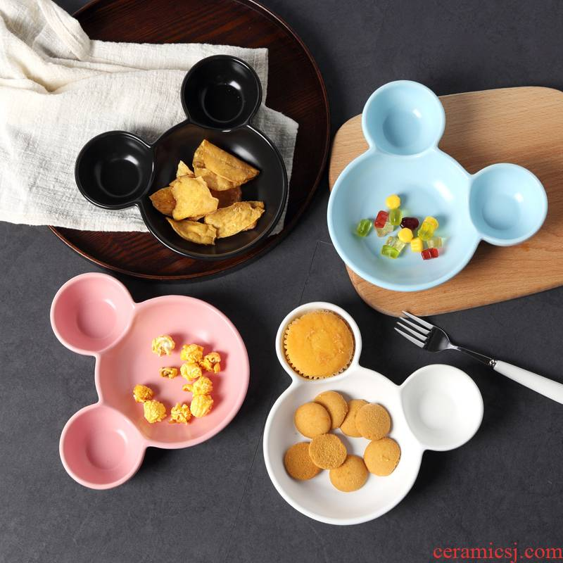 Japanese tableware mickey frame plate meal plate ideas disc breakfast tray snack plate dish dish dish
