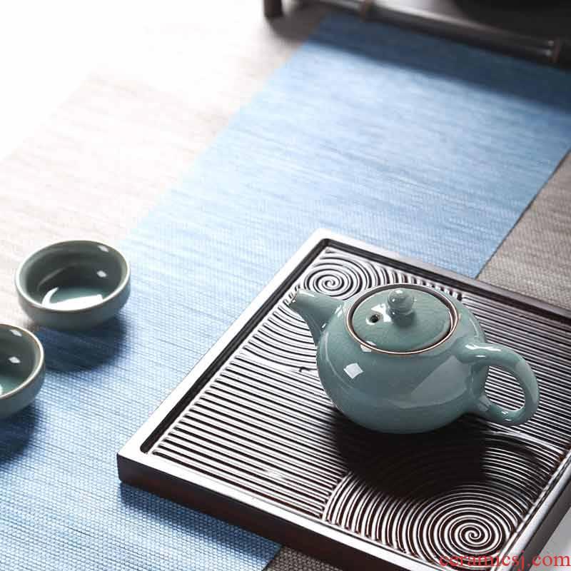 Hong bo acura heavy bamboo tea tray ebony wood tea tray tea blocks small tea tea sets of kung fu tea tray