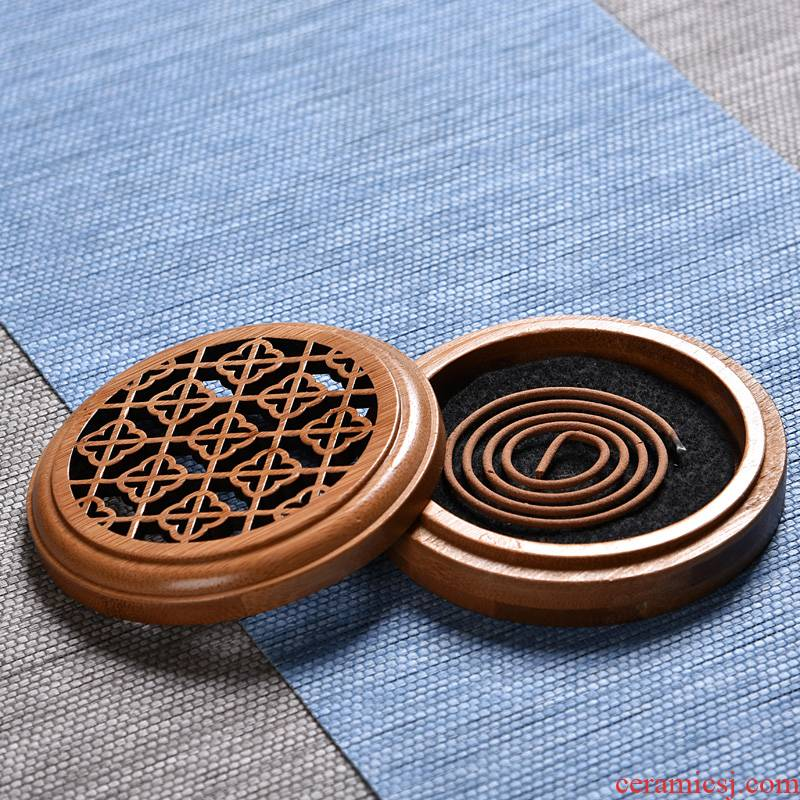 Hong bo acura censer sandal line sandalwood incense buner bamboo hollow out horizontal censer fragrant tea fragrant incense coil box